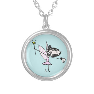 the tooth fairy ROCKS Silver Plated Necklace