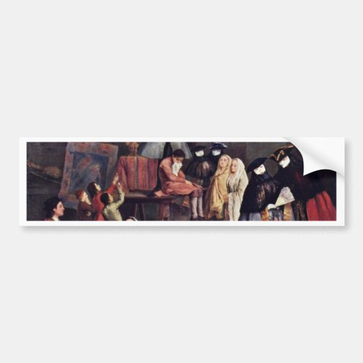 The Tooth-Puller By Longhi Pietro (Best Quality) Bumper Sticker
