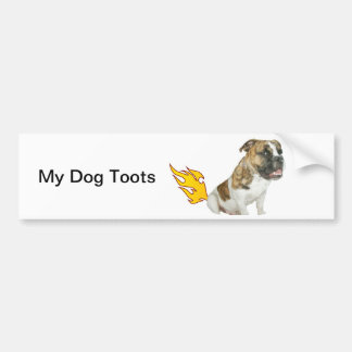 The Tooting Dog, Bumper Sticker