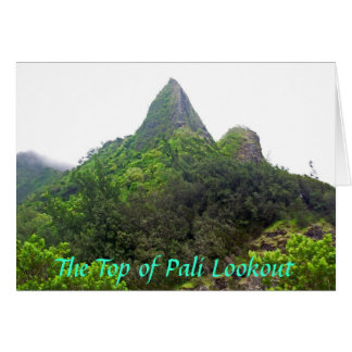 The Top of Pali Lookout card