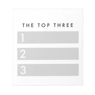 The Top Three Motivational Notepad for planners