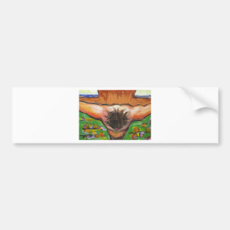 The top view Crucifixion of Jesus Christ Bumper Sticker