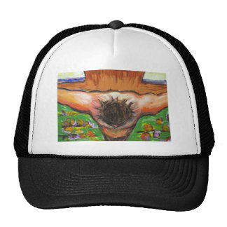 The top view Crucifixion of Jesus Christ Trucker Hat