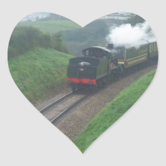 The Torbay train Heart Sticker
