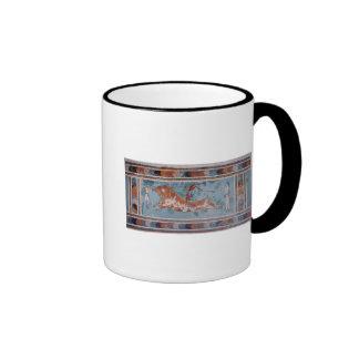 The Toreador Fresco, Knossos Palace, Crete Ringer Coffee Mug