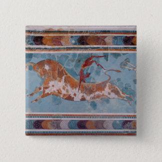 The Toreador Fresco, Knossos Palace, Crete Pinback Button