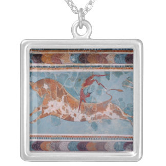 The Toreador Fresco, Knossos Palace, Crete Silver Plated Necklace