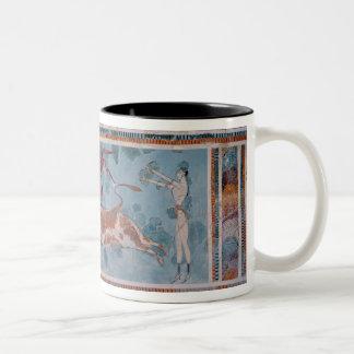 The Toreador Fresco, Knossos Palace, Crete Two-Tone Coffee Mug