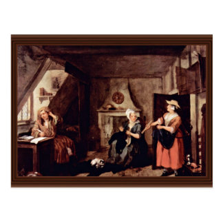 The Tormented Poet By Hogarth, William Postcard