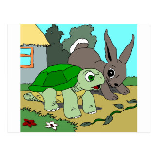 The Tortoise and the Hare Collection 1 Postcard