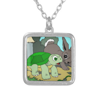 The Tortoise and the Hare Collection 1 Silver Plated Necklace