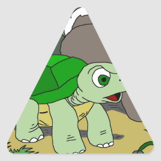 The Tortoise and the Hare Collection 1 Triangle Sticker