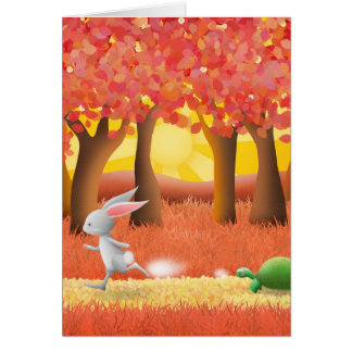 The Tortoise and the Hare - greeting card