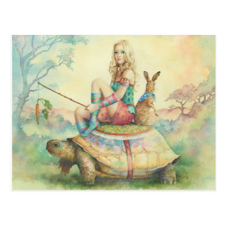 """""""The Tortoise and The Hare"""" por Scot Howden Postal"""