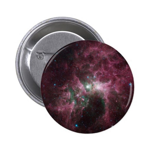 The Tortured Clouds of Eta Carinae Pinback Button