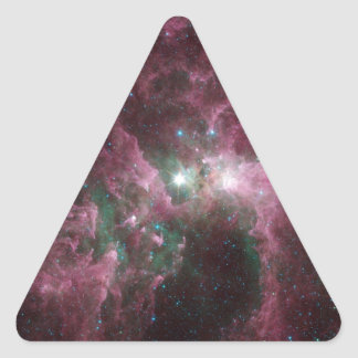 The Tortured Clouds of Eta Carinae Triangle Sticker