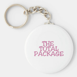 THE TOTAL PACKAGE (pink) Keychain