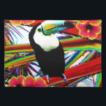 """The toucan cloth placemat<br><div class=""""desc"""">the toucan in its exotic garden</div>"""