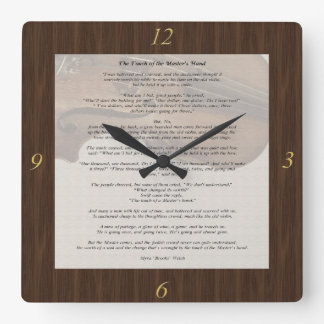 The Touch of the Master's Hand Square Wall Clock