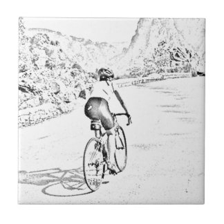 The tough hill climb ceramic tile