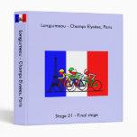 The Tour Arrives in Paris 3 Ring Binder