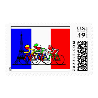 The Tour Arrives in Paris Stamps