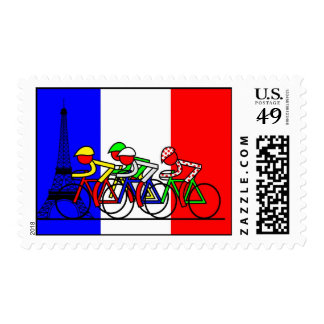 The Tour Arrives in Paris Postage Stamp