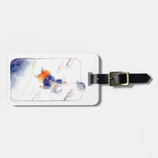The tourist luggage tags