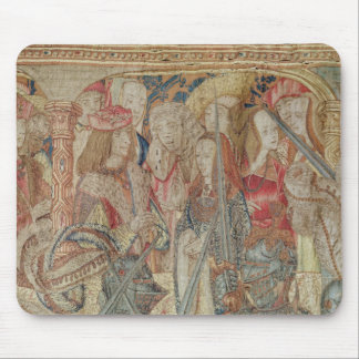 The Tournament, vertical loom tapestry Mouse Pad