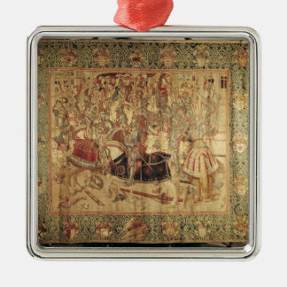The Tournament, vertical loom tapestry Ornament