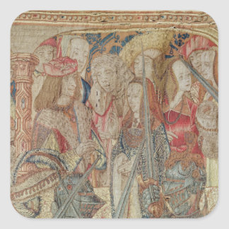 The Tournament, vertical loom tapestry Square Sticker