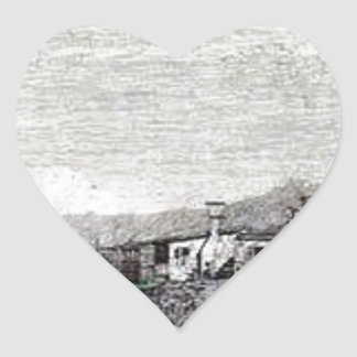 The Tow of Malghera by Canaletto Heart Sticker