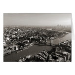 The Tower and Tower Bridge, London - B&W Card