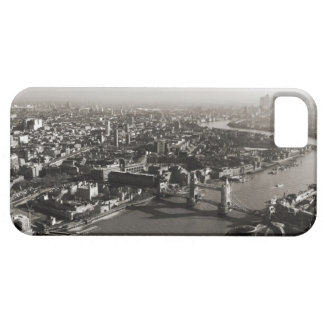 The Tower and Tower Bridge, London - B&W iPhone 5 Cases