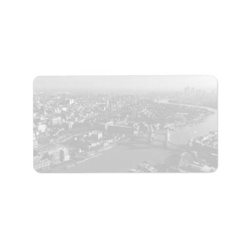 The Tower and Tower Bridge, London - B&W Personalized Address Labels