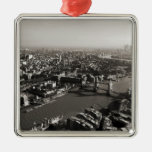 The Tower and Tower Bridge, London - B&W Ornament