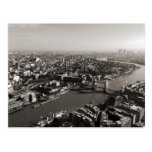 The Tower and Tower Bridge, London - B&W Post Cards