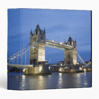 The Tower Bridge at Dusk 3 Ring Binder