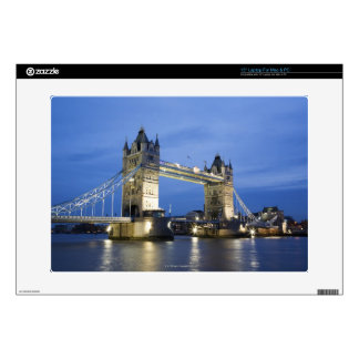 The Tower Bridge at Dusk Decals For Laptops