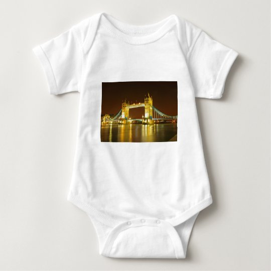 The Tower Bridge By Night Baby Bodysuit