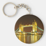 The Tower Bridge By Night Keychains