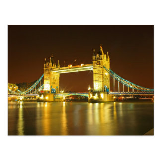 The Tower Bridge By Night Postcard