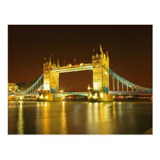 The Tower Bridge By Night Postcard