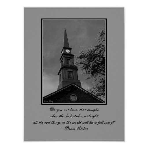 'The Tower Clock' Gothic Quotables Poster