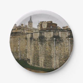 The Tower, London, Historical Travel Photograph 7 Inch Paper Plate