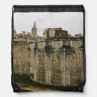 The Tower, London, Historical Travel Photograph Drawstring Backpack