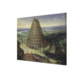 The Tower of Babel, 1594 Canvas Print