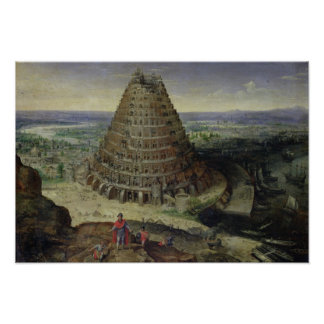 The Tower of Babel, 1594 Poster