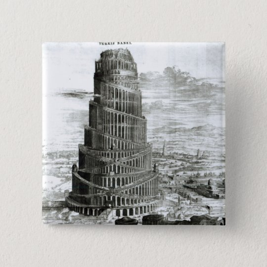 The Tower of Babel, 1679 Button