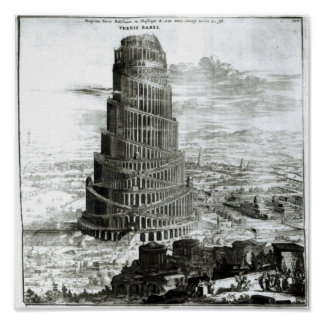 The Tower of Babel, 1679 Poster